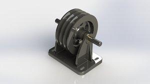 vee pulley bracket 3D model