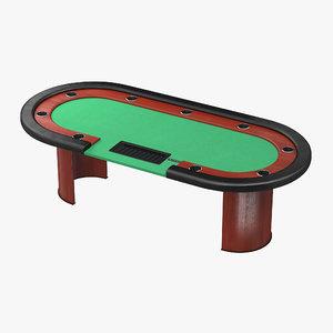 casino poker table 3D model