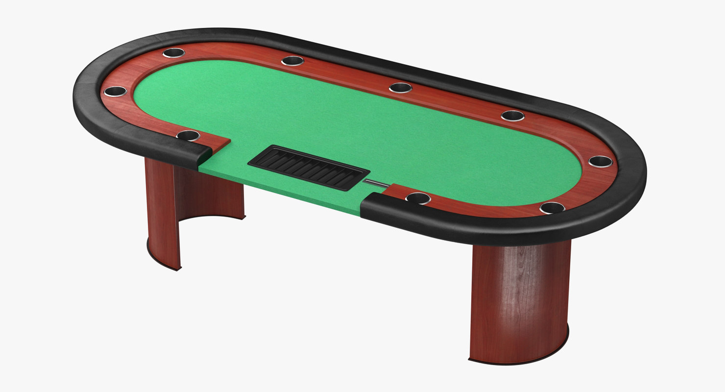 casino poker table 3D model