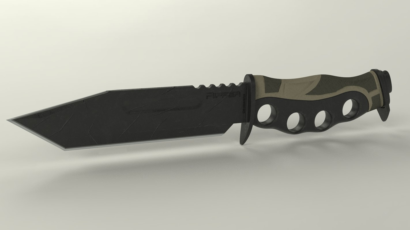 3D model military knife