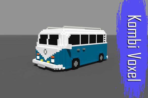 voxel kombi low-poly vr 3D model