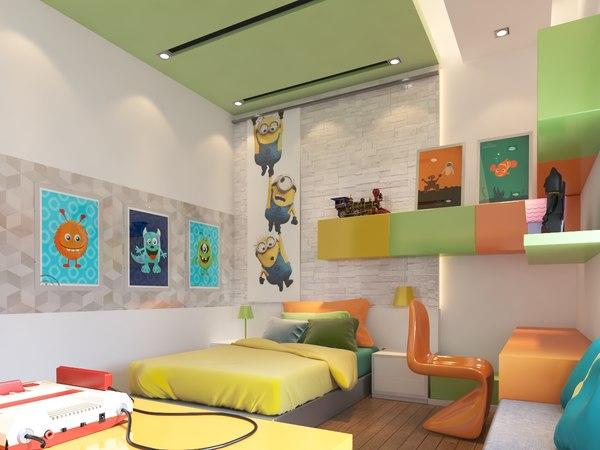 3D reality bedroom model