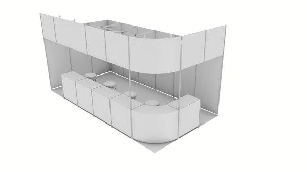 exhibition stand design 3D model