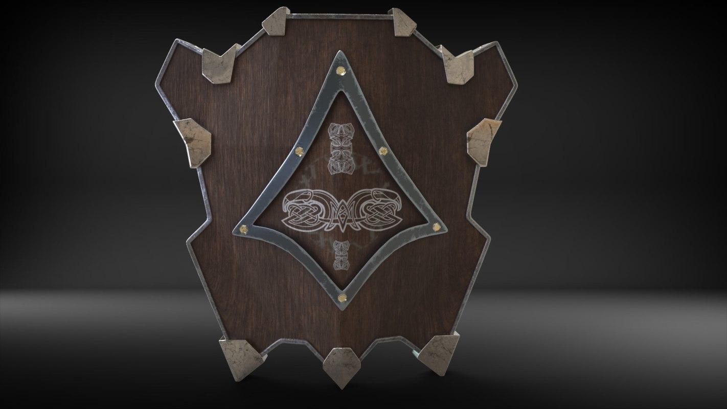 3D dwarven shield