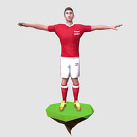 ready football soccer player model