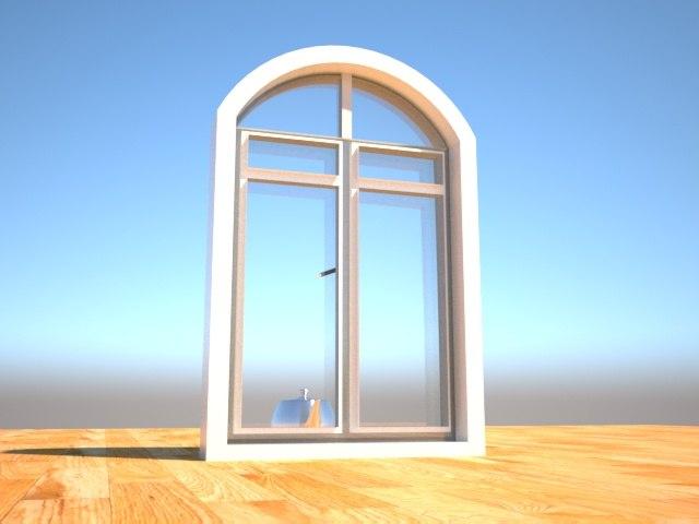 3D design glass window pvc