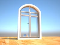 3D design glass window pvc