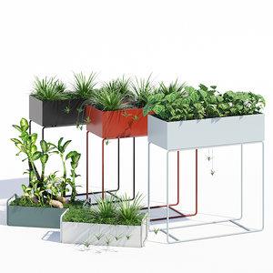 pots ferm living plant 3D model
