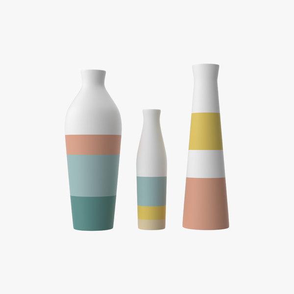 3D color vases