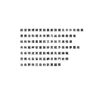 3D model chinese ms pgothic font