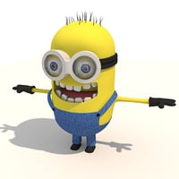 3d minion models turbosquid
