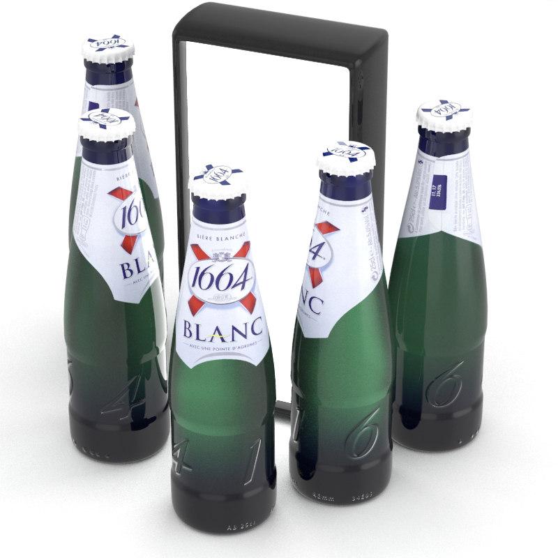 3D beer 1664 blanc model