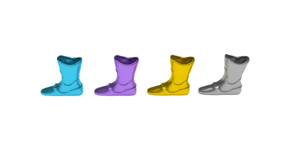 colored boot vase package model