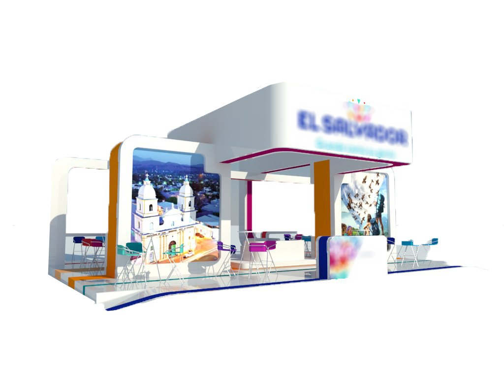 3D model booth designed