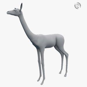 3D gerenuk model