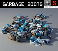 garbage boots hd lp 3D model