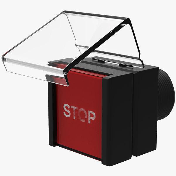 3D stop push-button