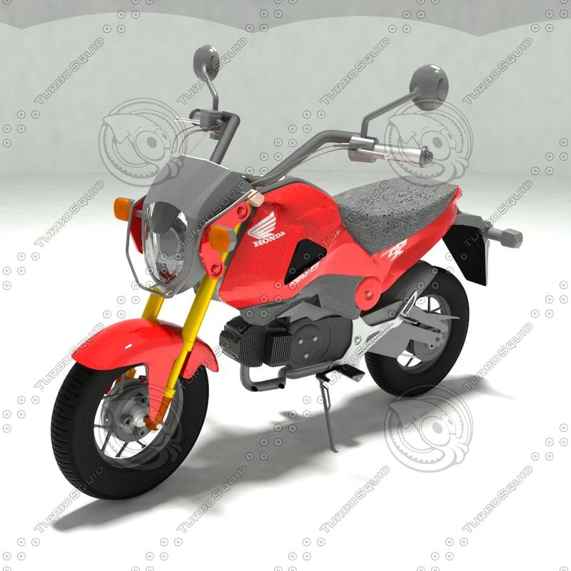 3D model grom msx 125 bike