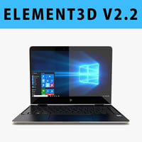 E3D - New HP Spectre x360 13-inch 2017 Laptop 3D