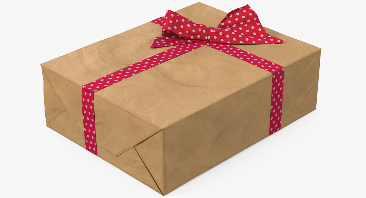 3D gift box paper model