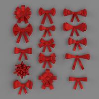 ribbon bows 3D model