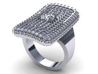 Square Fashion Ring R496