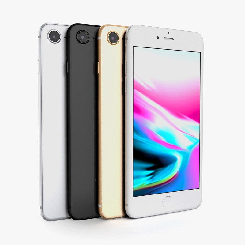 3D apple iphone 8 model