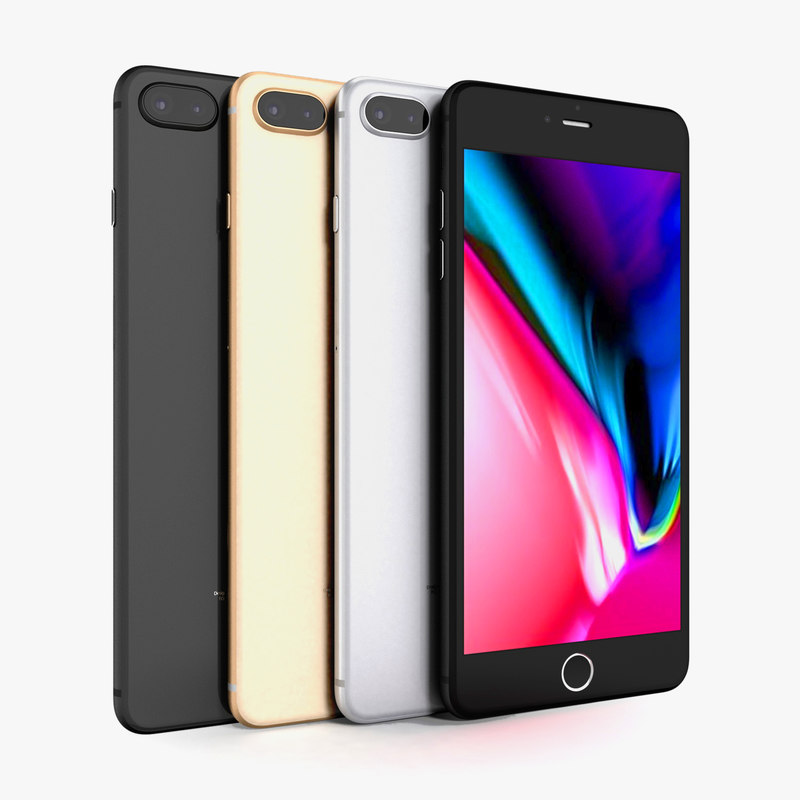 apple iphone 8 colors 3D model