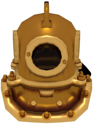 3D model dive diver helmet