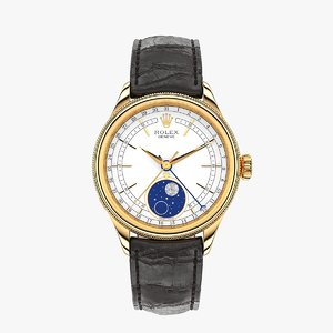 3D rolex cellini moonphase