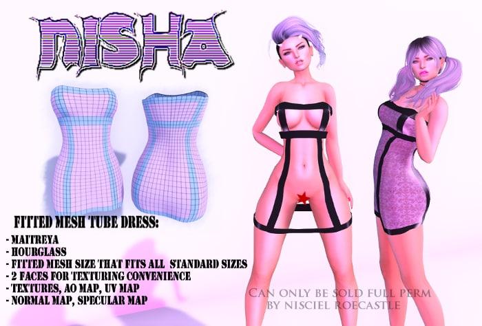 3D tube dress model