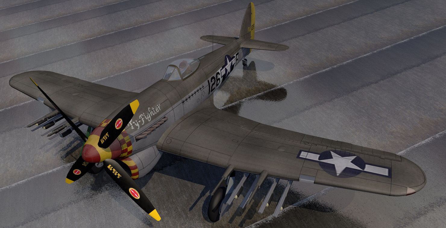 plane hawker typhoon mk-1b 3D model
