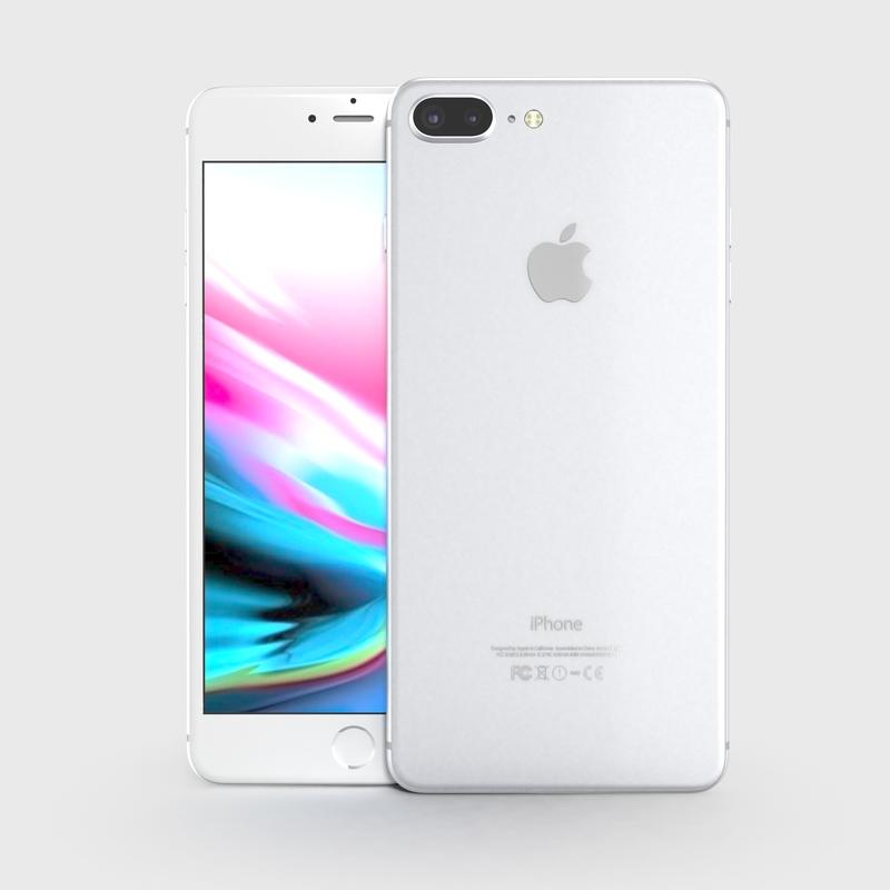 3D apple iphone 8 x model