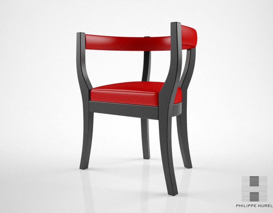 3D model philippe hurel harold chair