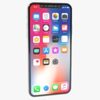 apple iphone x white 3D