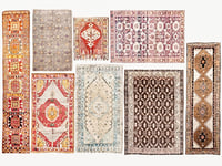 Carpet woven vintage turkish vol 02