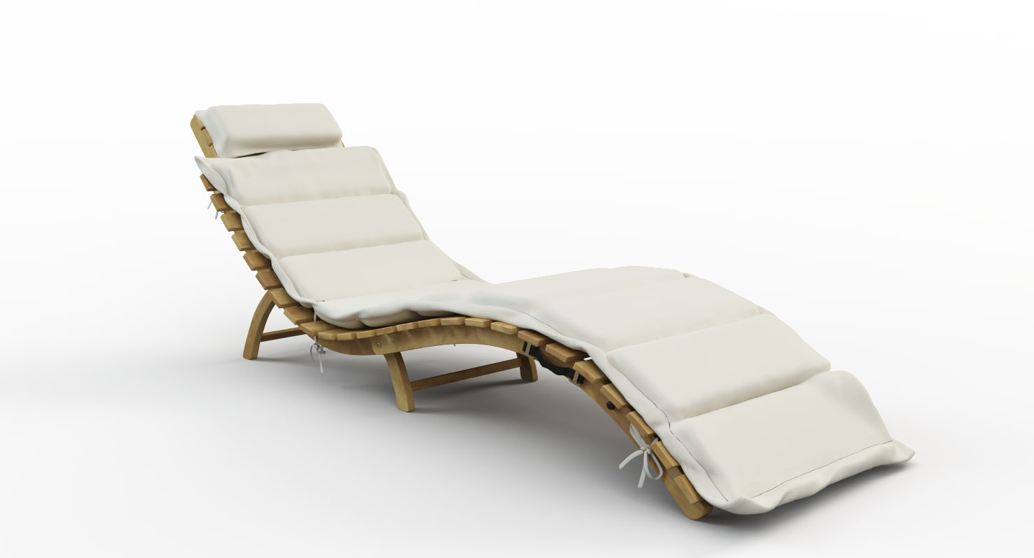 3D pacifica lounge chaise model