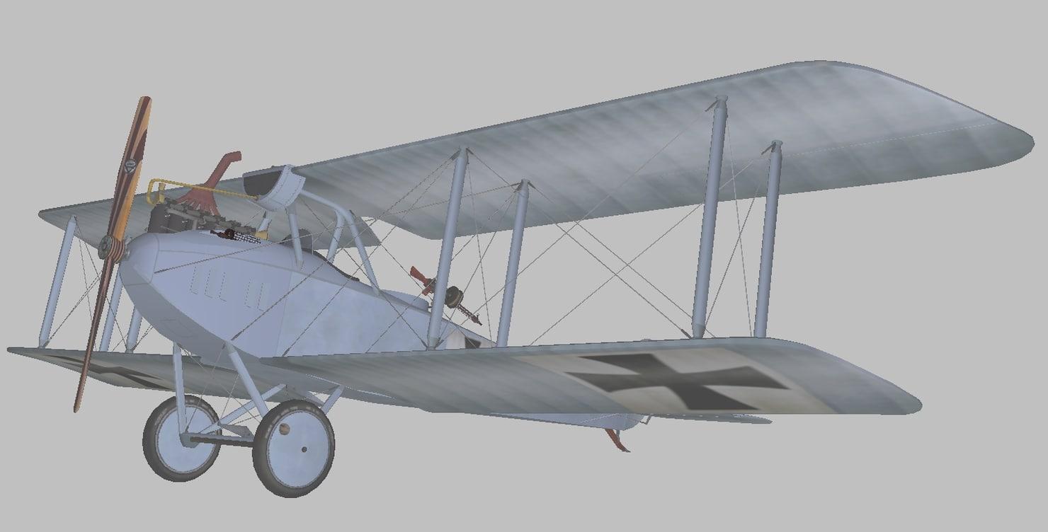 rumpler world war 3D model