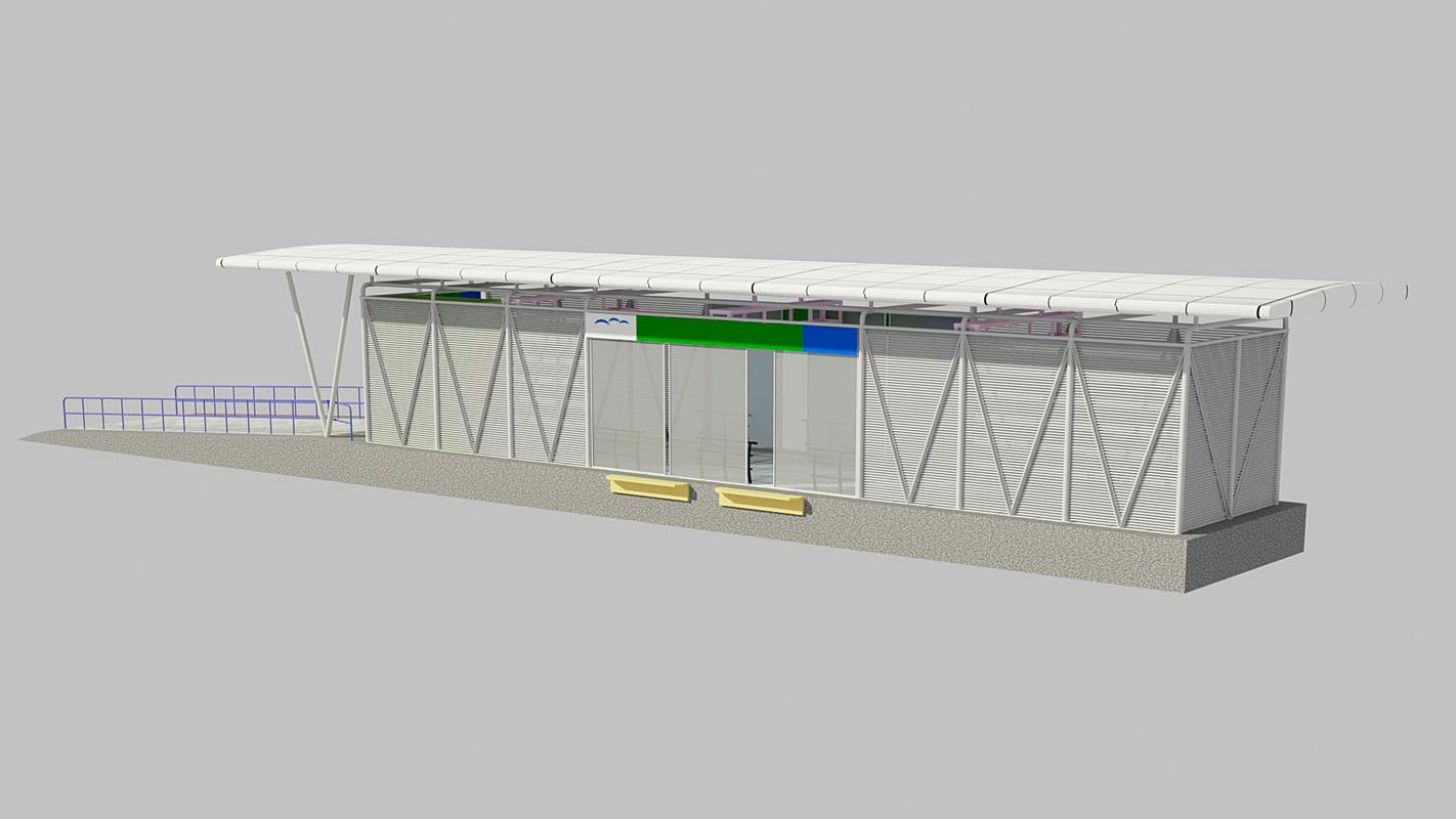 bus station 3D