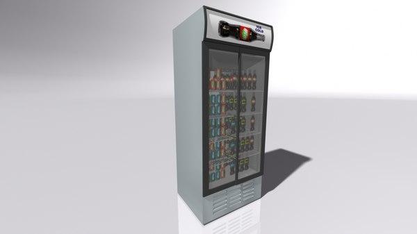 3D model drinks fridge