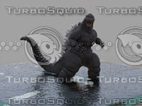godzilla action ocean 3D model