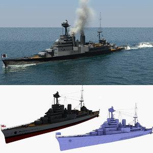 sailing hms hood 3D