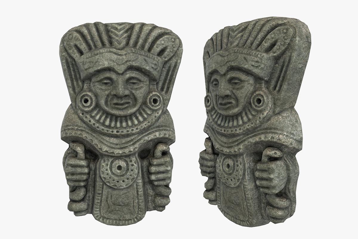 shaman tribal mask 3D model