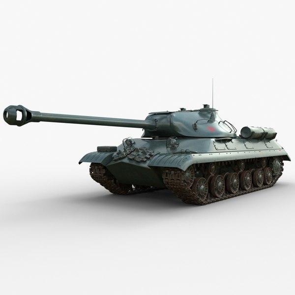 3D tank 3m soviet iray model