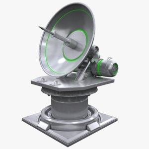 sci-fi antenna 3D