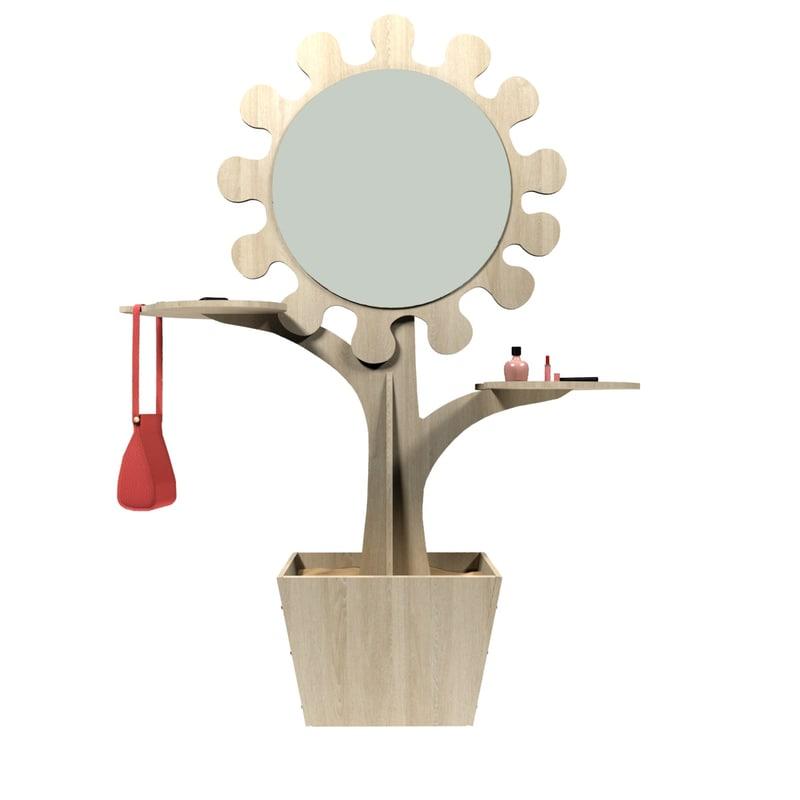 3D design shelf mirror