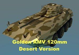 3D golden amv armored mortar