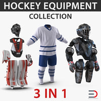 Hockey Equipment 3D Models Collection 5