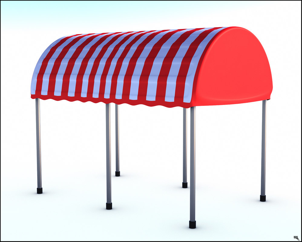 awning tent 3D model
