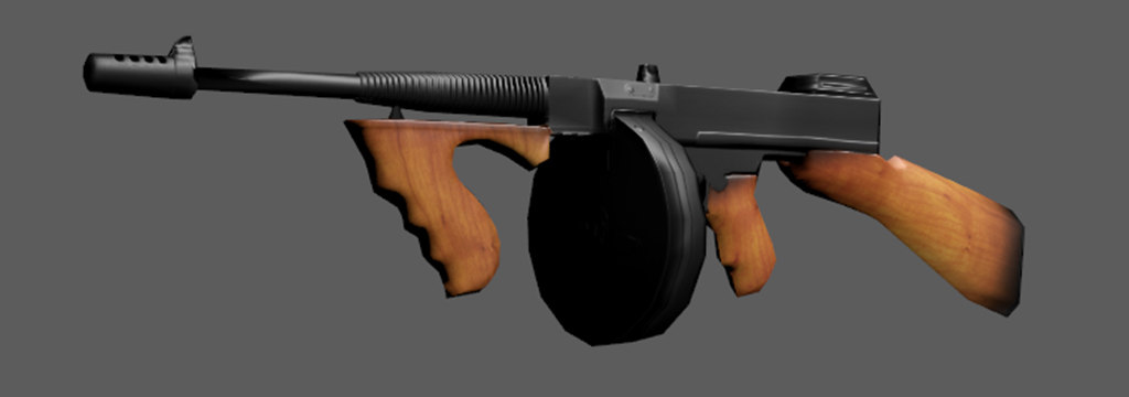 gun tommy 3D model